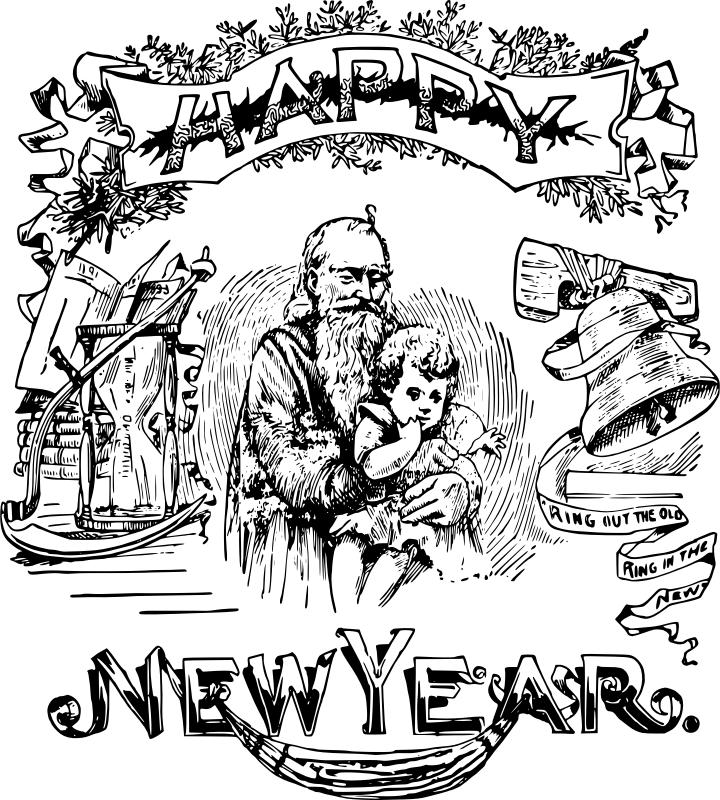 Stara pobarvanka novega leta
