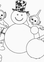 Telebajski s snežakom