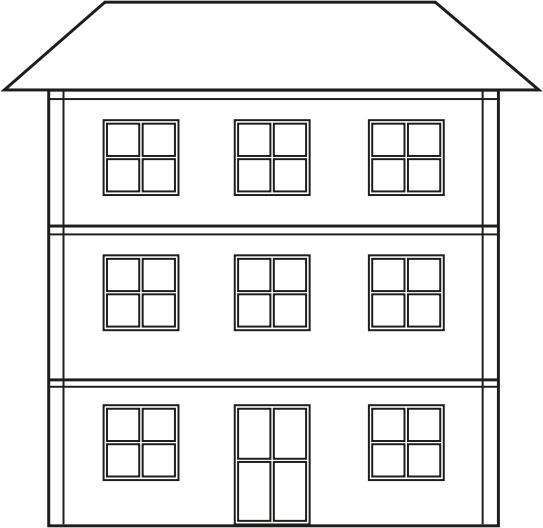 Pobarvanka velike hiše