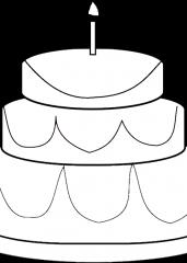 Pobarvanka velike torte
